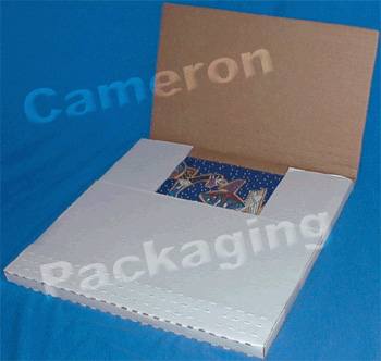 50 LP Record Bookfold 12-1//2 x12-1//2 x1 White Multi Depth Corrugated Mailer Box